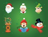 Mrs Claus,Santa Claus,Elf,Christmas,Human Face,Snowman,Hat,Symbol,Icon Set,Holiday,Bow,Reindeer,Caroler,Christmas Lights,Computer Icon,Cheerful,Mitten,Vector,Winter,Top Hat,Bell,Carrot,Clip Art,Design Element,Smiling,Ribbon,Stovepipe Hat,Snowflake,Holly,Scarf,Facial Expression