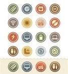 Technology,Symbol,Computer Icon,Retro Revival,Icon Set,Badge,Computer,Sign,Connection,Computer Cable,warranty,Data,Price,Wireless Technology,1950s Style,Operating System,Hard Drive,Network Connection Plug,Length,Computer Keyboard,Interface Icons,Set,CPU,Ilustration,Power Supply,CD-ROM,Mass - Unit Of Measurement,processor,Vector,Input Device,Random Access Memory,DVD,Laptop,Technical Specifications,Input Method,Computer Monitor,Battery,Optical Drive