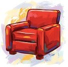 Armchair,Sofa,Chair,Sketch,Red,Cushion,Business,Art,Vector,Painted Image,Ilustration,Brush Stroke,Illustrations And Vector Art,Vector Backgrounds,Paintings,Objects/Equipment,Grunge,Household Objects/Equipment,hand drawn,Drawing - Art Product,Painterly Effect,Multi Colored