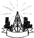 Communications Tower,Television Broadcasting,Radio,Cityscape,Urban Scene,Illustrations And Vector Art,Concepts And Ideas,Communication,Radio Program,City,Broadcasting,Wireless Technology,Computer Network,Communication,Tower