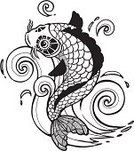 Koi Carp,Tattoo,Japanese Culture,Fish,Japan,Drawing - Art Product,Carp,China - East Asia,Pattern,Wave,Design,Indigenous Culture,Goldfish,Cultures,Decoration,Chinese Culture,Vector,Pisces,Retro Revival,Water,Prosperity,Illustration Technique,Buddhism,Animal Scale,Silhouette,Luck,Ilustration,Exoticism,Zen-like,Nature,Styles,Asia,Ink,Concepts,Illustrations And Vector Art,Isolated,Elegance,Animal Fin,Graph,Swimming Animal,Ornate,Objects with Clipping Paths,Animals And Pets,India,Black Color,Splashing,The Natural World,Sea Life,Vector Ornaments,Contour Drawing,Isolated Objects