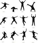 Jumping,Silhouette,People,Back Lit,Men,Cheerful,Happiness,Outline,Shadow,Excitement,Arms Raised,Joy,Dancing,Hand Raised,Vitality,Vector,Male,Action,Flying,Adult,Cheering,Achievement,Success,Focus on Shadow,Clip Art,People,Isolated,Kicking,Legs Apart,Side View,Hooded Shirt,Black And White,Lifestyle,Young Adults,Only Men,White Background,Isolated On White,Multiple Image,Digitally Generated Image,Isolated Objects,Ilustration,Extreme Sports,Lifestyles,Full Length,Computer Graphic,Front View,Casual Clothing
