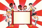 Karate,Child,Martial Arts,Tae Kwon Do,Judo,Cartoon,Kung Fu,Little Boys,Group Of People,Sport,Brochure,Flyer,Little Girls,Poster,Banner,Self-Defense,Placard,Multi-Ethnic Group,Kicking,Commercial Sign,Punching,Exercising,Ilustration,Sports Training,Practicing,African Descent,Copy Space,People,Vector Cartoons,Male,Advertisement,People,Illustrations And Vector Art,Exercise,Smiling,Cheerful,Power,Beauty And Health,Happiness,Vector,Design Element,Athlete,Asian Ethnicity,Billboard,Action,Ethnic,Drawing - Art Product,Ethnicity,Caucasian Ethnicity,Drawing - Activity