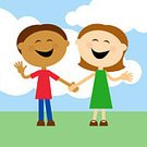Little Girls,Child,Little Boys,Cartoon,People,Laughing,Holding Hands,Vector,Friendship,Smiling,Clip Art,Cheerful,Simplicity,Childhood,Two People,Cloud - Sky,Ilustration,Fun,Cooperation,Togetherness,Joy,Nostalgia,Outdoors,Bonding,Brown Hair,Bright,Vibrant Color,Caucasian Ethnicity