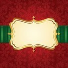 Christmas,Frame,Holiday,Label,Sign,Invitation,Red Background,Ornate,Backgrounds,Old-fashioned,Elegance,Banner,Pattern,Placard,Luxury,Snowflake,Christmas Decoration,Decoration,Snow,Season,Gold Colored,Blank,Red,Design Element,Empty,Green Color,Gold,December,Scroll Shape,yuletide,Winter,Christmas Theme