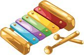 Xylophone,Percussion Instrument,Color Intensity,Toy,Yellow,Red,Multi Colored,Music,Isolated Objects,Purple,Strength,Blue,Isolated,Illustrations And Vector Art,Musical Instrument,Indoors,Cut Out,Small,Orange Color,Horizontal,Sound,Ilustration,Stick - Plant Part,Preschool,Arts And Entertainment,Color Image,Single Object,No People,Education,Isolated On White,Material,Green Color,Vector,Music