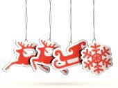 Christmas,Sleigh,Reindeer,Label,Paper,Sale,Symbol,Luggage Tag,Red,Christmas Decoration,Retail,Christmas Ornament,Icon Set,Snowflake,Design,Set,Shopping Tag,Shadow,Price,Design Element,Blank,Ilustration,Vector,Holiday,Promotion,Christmas Tag