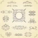 Calligraphy,Swirl,Ornate,Illustrations And Vector Art,Decoration,Vector Ornaments,Vignette,Vector,Crown