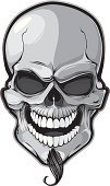 Human Skull,Evil,Human Face,Human Teeth,Halloween,Horror,Shock,Spooky,Mouth Open,Ilustration,Human Bone,Isolated,Goatee,Anatomy,Objects with Clipping Paths,Vector Cartoons,Isolated Objects,Vector Icons,graphic elements,Grimacing,Human Hair,Illustrations And Vector Art