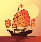 Hong Kong,Junk Ship,Nautical Vessel,China - East Asia,Travel,Sailboat,Thailand,Sailing Ship,Asia,Harbor,Journey,Sailing,Passenger Craft,Illustrations And Vector Art,Vector Icons,Vector Cartoons,Sea,Travel Destinations,People Traveling,Cultures,Famous Place,Tropical Climate,Transportation
