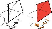 Kite - Toy,Cartoon,Line Art,Art,Flying,Vector,String,Ilustration,Black And White,Coloring Book,Childhood,Outline,Youth Culture,Visual Art,Vector Cartoons,Isolated Objects,Activity,Fun,Illustrations And Vector Art,Arts And Entertainment