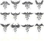 Vet,Symbol,Caduceus,Computer Icon,Wing,Healthcare And Medicine,Vector,Set,Design,Icon Set,Shadow,Group of Objects,Ilustration,Emergency Services,White Background,Collection,Black Color,Hospital,Digitally Generated Image,Black And White,Pendant