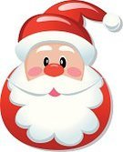 Santa Claus,Human Face,Beard,Symbol,Christmas,Hat,Characters,Ilustration,Cap,White,Cartoon,Clip Art,Cute,Black Color,Vector,Senior Adult,Winter,Men,Holiday,Year,Humor,Holiday Symbols,New Year's,Christmas,Holidays And Celebrations,Blue,People,Modern,Celebration,Red