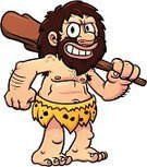 Caveman,Neanderthal,Cartoon,Beard,Isolated,Prehistoric Era,Men,Club,Smiling,Vector,Characters,Standing,People,Illustrations And Vector Art,Vector Cartoons,Color Gradient,Isolated On White,Fur,Fur