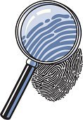 Forensic Science,Crime,Fingerprint,Identity,Magnifying Glass,DNA,Discovery,Glass - Material,Vector,Science,Examining,Cartoon,Thumbprint,Concepts And Ideas,Ink,Illustrations And Vector Art,Vector Cartoons,Magnification,Law Enforcement And Crime,Communication,Industry,Ilustration,Searching,Looking,Black Color,Zoom,Drop