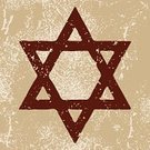 Star Of David,Judaism,Ancient,Textured,Symbol,Old,Rough,Brown,Square,Grunge,Ilustration,Stone,Vector,Religion,Star Shape