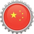 China - East Asia,Chinese Flag,Flag,Bottle Cap,Illustrations And Vector Art,Travel Locations,Shiny,Vector,Computer Icon,Star Shape