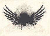 Artificial Wing,Wing,Tattoo,Dirty,Eagle - Bird,Splattered,Grunge,Insignia,Coat Of Arms,Graffiti,Textured,Textured Effect,Paint,Backgrounds,Swirl,1940-1980 Retro-Styled Imagery,Ink,Retro Revival,Ilustration,Gothic Style,Design,Ornate,Pencil Drawing,Pattern,Vector,Damaged,Old-fashioned,Old,Scroll Shape,Sketch,Messy,Arts And Entertainment,Arts Abstract,Drop,Arts Backgrounds,Design Element