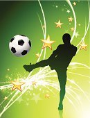 Soccer,Backgrounds,Gold Colored,Star Shape,Silhouette,superstar,Ball,Soccer Ball,Sunbeam,Green Color,Goal,Athlete,Sport,Vector,Exploding,Digitally Generated Image,Back Lit,Muscular Build,Shooting at Goal,People,Brightly Lit,Kicking,Competition,Sphere,Passing,Illustrations And Vector Art,Ilustration,Vitality,Competitive Sport,Team Sports,Yellow,Shiny,Design,Sports And Fitness,Wave Pattern,Vibrant Color,Bright,Event