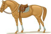 Saddle,Horse,Pony,Vector,Horseback Riding,Racehorse,Dressage,Polo,Thoroughbred Horse,Riding,Mustang,Drawing - Art Product,Mare,Equipment,Ilustration,White,Sports Venue,Leather,Hoofed Mammal,Mammals,Trotter,Tail,Bridle,Isolated Objects,Farm Animals,Animal,Isolated On White,Animals And Pets,Stallion,Isolated,Mammal,Sport,Harness,Stirrup,Brown