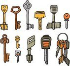 Key,Key Ring,Cartoon,Hotel Key,Car Key,Ilustration,House Key,Illustrations And Vector Art,Objects/Equipment,Vector Icons,Set,Vector Cartoons,Vector,Household Objects/Equipment,Wind-up Key,Pen And Marker,Security System,Computer Icon