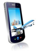 Travel,Mobile Phone,Business Travel,Technology,Airplane,Smart Phone,Telephone,Journey,Wireless Technology,Business,Ilustration,Global Communications,Direction,Touch Screen,Electronics,Technology Abstract,Electronic Organizer,Reflection,Copy Space,Shiny,Travel Locations,Technology,Design Element,Palmtop,Air Travel