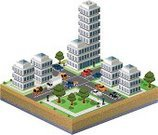 City,Isometric,Urban Scene,Blueprint,Architectural Model,Toy Block,Plan,Residential District,Car,Apartment,Ilustration,Street,Illustration Technique,Vector,Construction Industry,Computer,Skyscraper,House,Architecture And Buildings,Image,Illustrations And Vector Art,Mansion,Homes,Building - Activity,Architecture