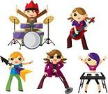 Musical Band,Cartoon,Pop Musician,Guitar,Teenage Girls,Playing,Musician,Women,Teenager,Guitarist,Rock and Roll,Piano,Modern Rock,Piano Key,Drum,Playful,Performance,Teenagers Only,Men,Ilustration,Music,Electric Guitar,Performing Arts Event,Little Boys,Cute,Vector,Singing,Musical Instrument,People,Vector Cartoons,Energy,Illustrations And Vector Art,Joy,Performer,Sound,Vector Icons,Cheerful,People,Bass Guitar,Smiling,One Person,Sunglasses,Microphone