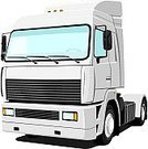 Truck,Semi-Truck,White,Car Transporter,Truck Driver,Vehicle Trailer,Vector,White Background,Land Vehicle,Cargo Container,Freight Transportation,Single Object,Heavy,Mode of Transport,Isolated On White,Ilustration,Isolated Objects,Isolated,Illustrations And Vector Art,Transportation,Image,Horizontal,Computer Graphic,Transportation,Delivering