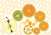 Orange - Fruit,Tangerine,Slice,Orange Color,Food,Gear,Ilustration,Healthy Eating,Ideas,Lemon,Fruit,Dieting,Kiwi - Fruit,Citrus Fruit,Freshness,Green Color,Meal,Wheel,Candid,Pink Color,Yellow,Shape,Organic,Nature,Food And Drink,Horizontal,Vector Cartoons,Illustrations And Vector Art,gearing,Cross Section,Health Symbols/Metaphors,Ripe,Set,Beauty And Health,Fruits And Vegetables,Turning,Apple - Fruit,Circle,Communication,Backgrounds,Clockworks