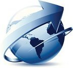 Globe - Man Made Object,Planet - Space,Sphere,Earth,World Map,Arrow Symbol,Transportation,Growth,Mode of Transport,Speed,Physical Geography,Map,Water,Cartography,USA,Isolated,Land,Direction,Topography,Symbol,Sea,Canada,Clip Art,Blue,Pacific Ocean,Macro,Europe,Atlantic Ocean,The Americas,Africa,South America