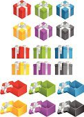 Gift Box,Open,Gift,Christmas Present,Box - Container,Wrapping Paper,Symbol,Blue,Vector,Unwrapped,Purple,Green Color,Silver Colored,Giving,Ribbon,Christmas,Icon Set,Shiny,Holidays And Celebrations,Lid,Illustrations And Vector Art,Christmas Paper,Holiday,Black Color,Yellow,Decoration,Bow,Red,Celebration,Satin,Lifestyle