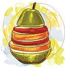 Food,Ilustration,Art,Fruit,Variation,Granny Smith Apple,Slice,Orange - Fruit,Vector,Apple - Fruit,Square,Healthy Eating,Refreshment,Drawing - Art Product,Ripe,hand drawn,Grunge,Illustrations And Vector Art,Pear,Food Backgrounds,Food And Drink,Vector Backgrounds,Painted Image,Brush Stroke,Sketch,Paintings,Painterly Effect,Creativity,Composition