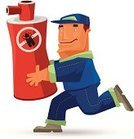 Exterminator,Pest Control Equipment,Men,Running,Insect,Cartoon,Spray Bottle,Pest,Clip Art,Ilustration,No,Characters,Destruction,Carrying,Aerosol Can,Concepts And Ideas,People,Design Element,Illustrations And Vector Art,Digitally Generated Image,Vector,Humor,Forbidden,Manual Worker