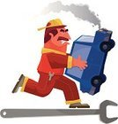 Car,Wrench,Broken,Running,Men,Cartoon,Characters,Engineer,Repairing,Danger,Humor,Land Vehicle,Mechanic,Ilustration,Vector,Service,Repairman,Machinist,Cheerful,Chaos,Rebellion,Concepts,Messy,Illustrations And Vector Art,Clip Art,Illness,Auto Mechanic,Technician,Digitally Generated Image,Concepts And Ideas,Transportation,Driving,Design,Transportation,Carrying,Urgency