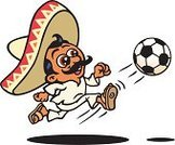 Soccer,Jogging,Sombrero,Mexico,Running,Healthy Lifestyle,Mexican Ethnicity,Mexican Culture,Latin American and Hispanic Ethnicity,Sport,Exercising,Ilustration,Soccer Ball,Mustache,Smiling,Fun,Hat,Urgency,White Background,Team Sports,Enjoyment,Vector,Vector Cartoons,Sports And Fitness,Healthy Lifestyle,Illustrations And Vector Art,Concepts And Ideas,Shadow,Ball,Speed