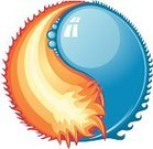 Heat - Temperature,Cold - Termperature,Water,Fire - Natural Phenomenon,Yin Yang Symbol,Fireball,Contrasts,Symbol,Flame,Circle,Computer Icon,Wave,Whole,Balance,Sphere,The Four Elements,Bubble,Agreement,Isolated Objects,Environment,Reflection,Nature Symbols/Metaphors,Nature,Illustrations And Vector Art,Harmony,Isolated,Intertwined,Liquid,Nature