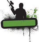 Paintballing,Graffiti,Silhouette,Banner,Grunge,Spray,Gun,Splattered,Green Color,Vector,Splashing,Stained,Abstract,Drop,Design Element,Ink,Liquid,Illustrations And Vector Art,Concepts And Ideas,Modern Life,Inkblot,Lifestyle,Brush Stroke,Spraying,Spotted,Textured Effect