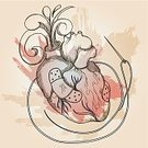 Human Heart,Surgery,Sewing,Love,Ideas,Repairing,Textured Effect,Heart Surgery,Sewing Needle,Exploding,Dirty,Aorta,Adhesive Bandage,Heart Ventricle,Print,Retro Revival,Stained,Blood,No People,Doodle,Woodcut,Design,Ilustration,Surgical Needle,Illustrations And Vector Art,Line Art,Pen And Ink,Beauty And Health,Concepts And Ideas,Vector,Feelings And Emotions,Splattered,Grunge,Medicine,1940-1980 Retro-Styled Imagery,Spray,Brown,Red,Loss,Human Vein,Thread,Ornate