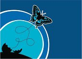 Cocoon,Butterfly - Insect,Change,Animal Egg,Blue,Black Color,Insects,Actions,Animals And Pets,Shadow,Shade