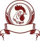 Chicken - Bird,Animal's Crest,Rooster,Sign,Coat Of Arms,Cockerel,Mascot,Poultry,Design,Food,Farm,Award Ribbon,Livestock,Ribbon,White Meat,Animal,Agriculture,Morning,Symbol,Meat,Ilustration,Computer Icon,Rural Scene,Bird,Design Element,Nature,Male Animal,Part Of,Cartoon,Pattern,Preserves,Astrology Sign,Style,Pride,White,cockadoodledoo,Characters,Beak,Feather,Domestic Animals,Vector