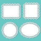 Doily,Lace - Textile,Frame,Picture Frame,Paper,Circle,Rectangle,Square Shape,Square,Old-fashioned,Vector,White,Pattern,Ornate,Decor,Design,Cake Paper,Backgrounds,Antique,Clip Art,Isolated,Cute,Ilustration,Summer