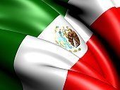 Mexican Flag,Mexico,Flag,North America,Ilustration,Three-dimensional Shape,Wind,Three Dimensional,Waving,The Americas,Close-up,Curve,National Flag,Symbol,state,render,Illustrations And Vector Art