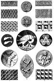 Woodcut,Fish,Geometric Shape,Pattern,Embellishment,Decoration,Halftone Pattern,Insignia,Image Created 19th Century,Illustrations And Vector Art,Isolated On White,Arts Symbols,Old,Ilustration,Shape,Animal,19th Century Style,Retro Revival,Repetition,Styles,Victorian Style,Waffled,Engraved Image,Antique,Design,Crisscross,Isolated,Arts Backgrounds,Design Element,Bird,Arrangement,Old-fashioned,Natural Pattern,Arts And Entertainment,Set,Mirrored Pattern,Art,Ornate,Collection,Symbol,Print,Art And Craft