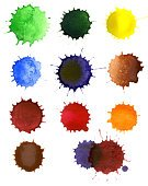 Blob,Paint,Watercolor Painting,Spray,Brushing,Spotted,White Background,Colors,Color Image,Shape,Computer Graphic,Abstract,Paper,Art,Drawing - Art Product,Isolated,Drop,daub,Design,Dribbling,Multi Colored,Collage,No People,White,Individuality,Red,Collection,Image,Isolated On White,Design Element,Creativity,Wood Stain,Yellow,Vibrant Color,Painted Image,Variation,Green Color,Set