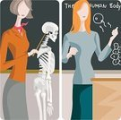 Teacher,Anatomy,Teaching,Religious Icon,People,Classroom,Office Interior,Vector,Human Skeleton,Ilustration,Blackboard,School Building,Instructor,Biologist,Architecture And Buildings,People,Clip Art,Objects/Equipment,Chalk - Art Equipment,Diptych,Pointer Stick,Biology,handcarves