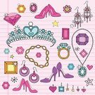 Princess,Jewelry,Doodle,Femininity,Crown,Personal Accessory,Gemstone,Vector,Diamond,Bracelet,Ruby,Fashion,Queen,High Heels,Earring,Shoe,Ring,Design Element,Funky,Lined Paper,Heart Shape,Back to School,Star - Space,Fun,Teen Pop,Star Shape,Royalty,Ilustration,Illustrations And Vector Art,Scroll Shape,1960s Style,Pump Shoe,Swirl,Emerald,Fashion,Royal Person,Neckalce,Flower,Single Flower,Multi Colored,Beauty And Health,Vector Ornaments,Spiral Notebook,Abstract