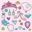 Princess,Crown,Doodle,Personal Accessory,Femininity,Diamond Ring,Flower,Single Flower,Queen,Diamond,Gemstone,Jewelry,Ring,Bracelet,Vector,Fashion,Fun,Back to School,Ruby,Shoe,Emerald,Royalty,High Heels,Earring,Design Element,Royal Person,Fashion,Swirl,1960s Style,Star - Space,Teen Pop,Spiral Notebook,Illustrations And Vector Art,Neckalce,Scroll Shape,Lined Paper,Heart Shape,Star Shape,Abstract,Beauty And Health,Funky,Rainbow,Ilustration,Multi Colored,Vector Ornaments,Pump Shoe