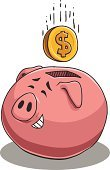 Currency,Pig,Business,Business Concepts,Coin,Savings,Laughing