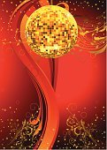 Disco Ball,Nightclub,Disco,Party - Social Event,Red,Glass - Material,Colors,Vector Backgrounds,Yellow,Illustrations And Vector Art,Shiny,Abstract,Vector,No People,Ilustration,Circle,Bright